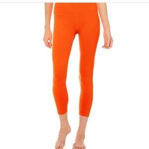 ALO Yoga neon orange limited edition leggings 7/8